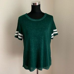 Forever 21 Green Burn Out T Shirt